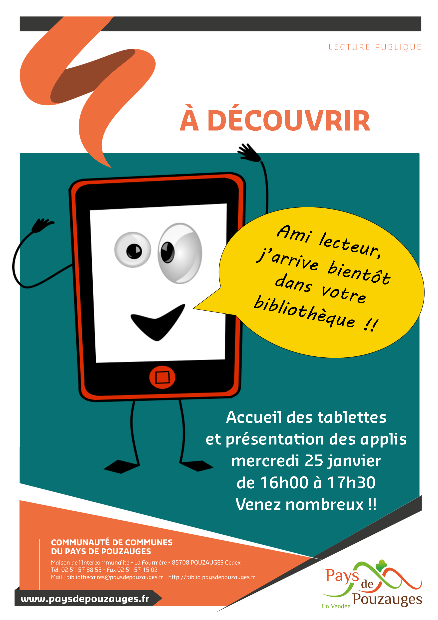 Affiche tablettes Pouzauges