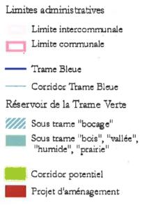 Légende Plan Trame Verte et Bleue